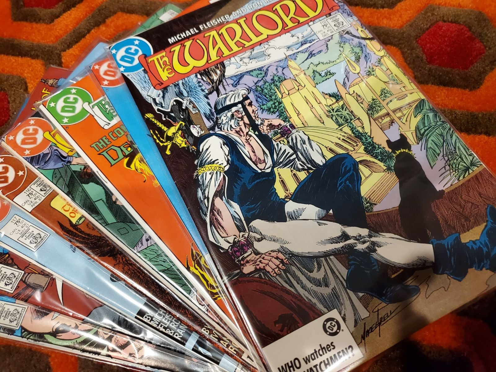 Dc comics The Warlord comic lot