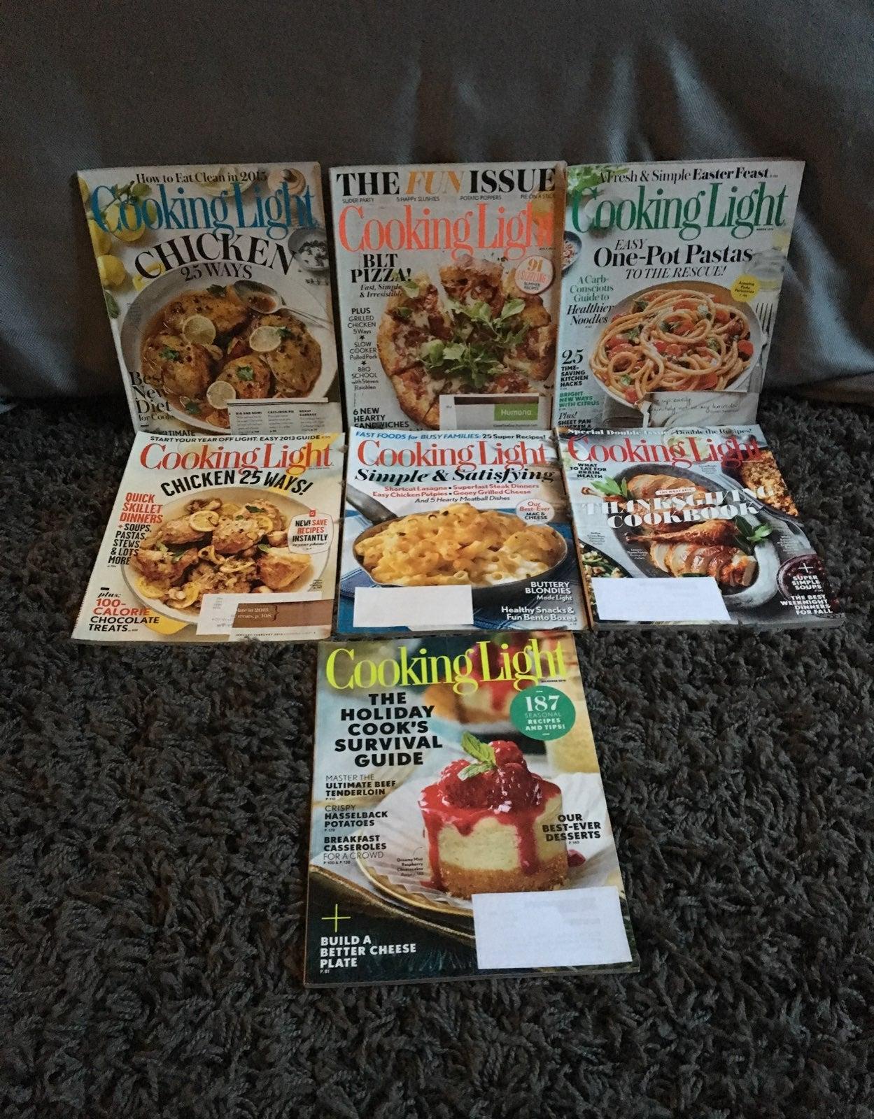 7 Cooking Light Magazines