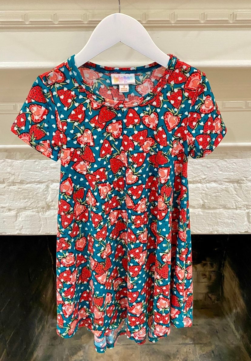 LulaRoe Strawberry Scarlett Dress