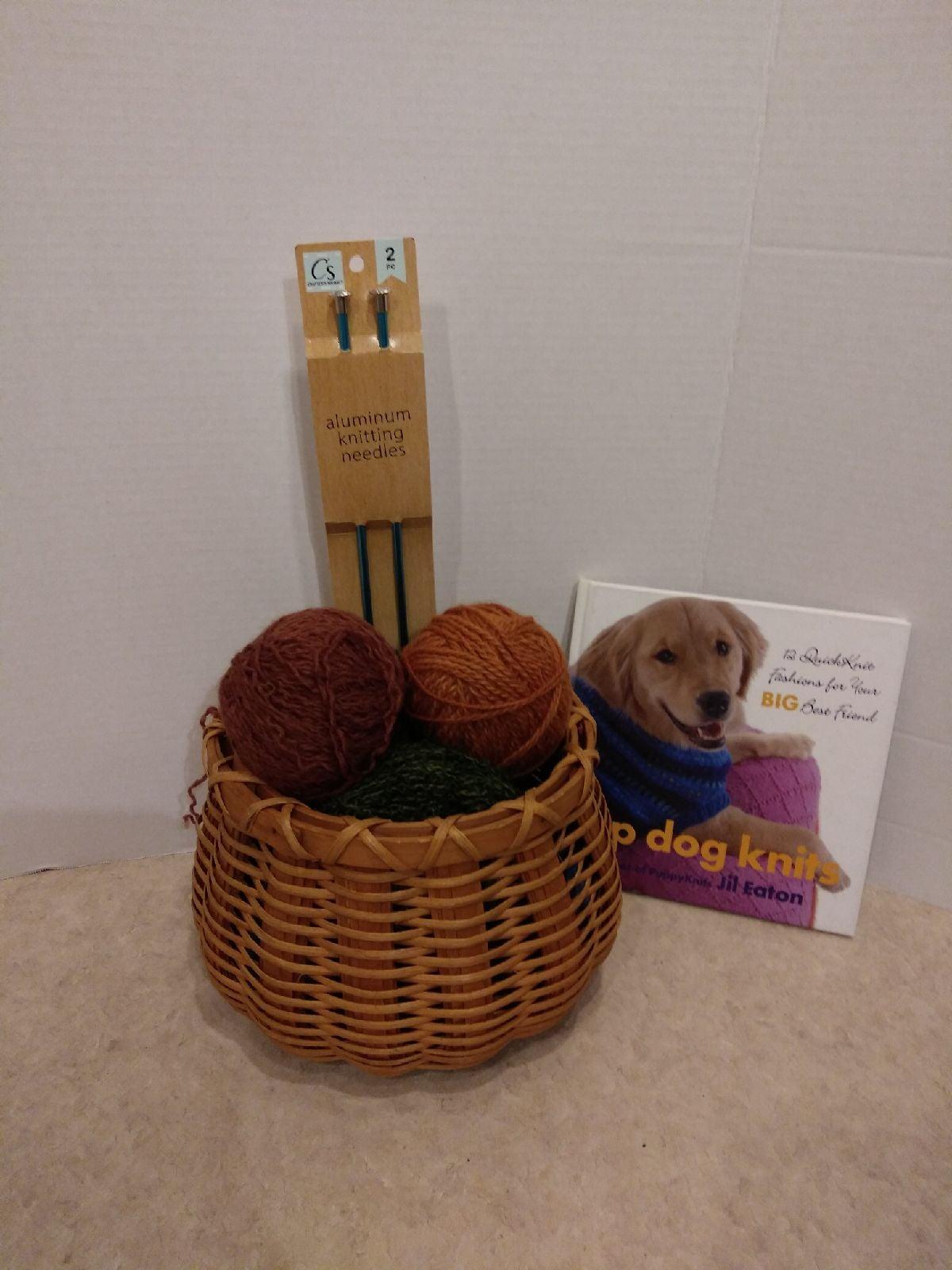 "Knitting Supplies & ""Top Dog Knits"" Book"