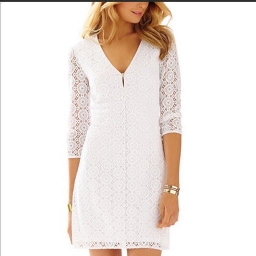 Lilly Pulitzer Lamora Lace V-Neck Tunic Dress