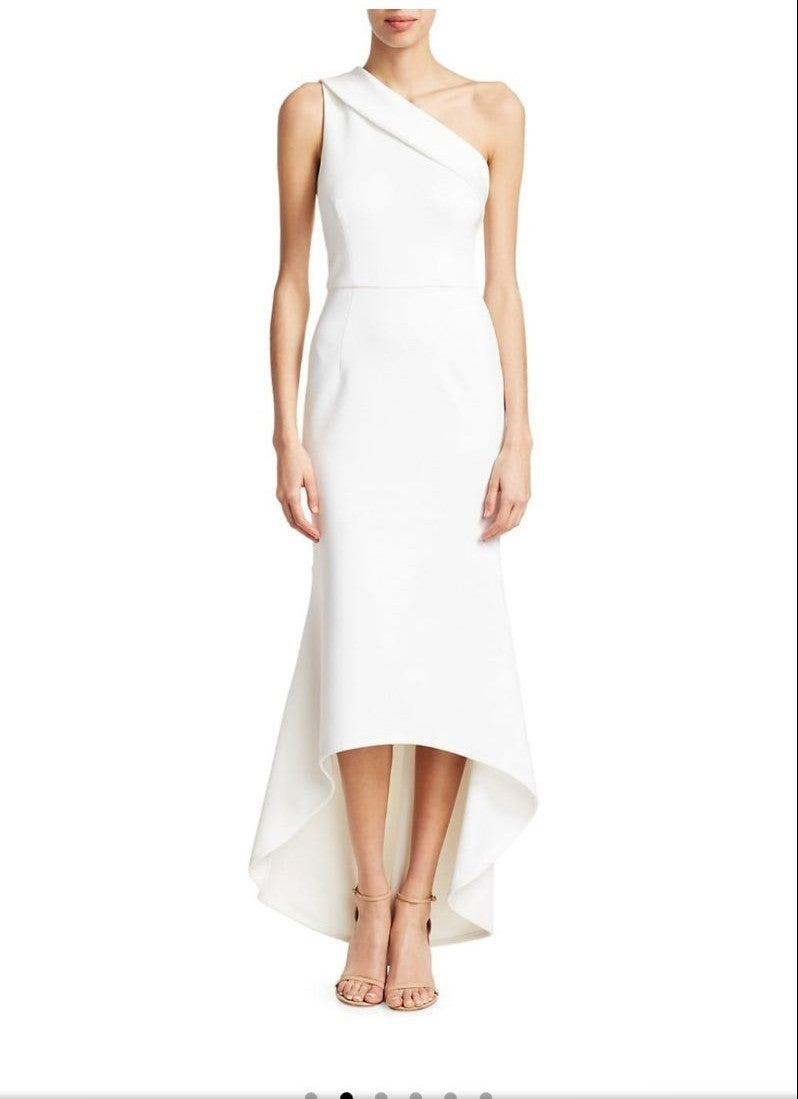 One shoulder High low  gown