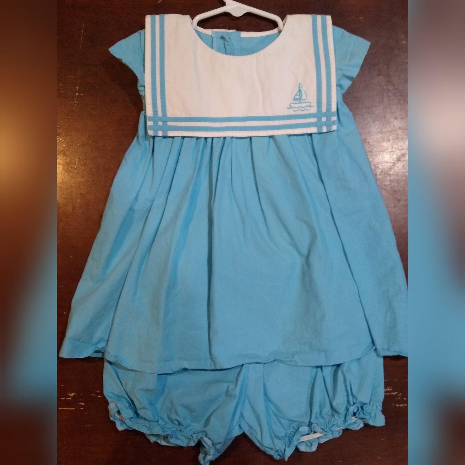 Fantasie Kids Blue Bishop Sailboat Dress