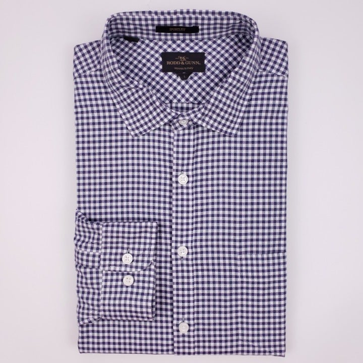 Rodd And Gunn Shirt Large Purple White G