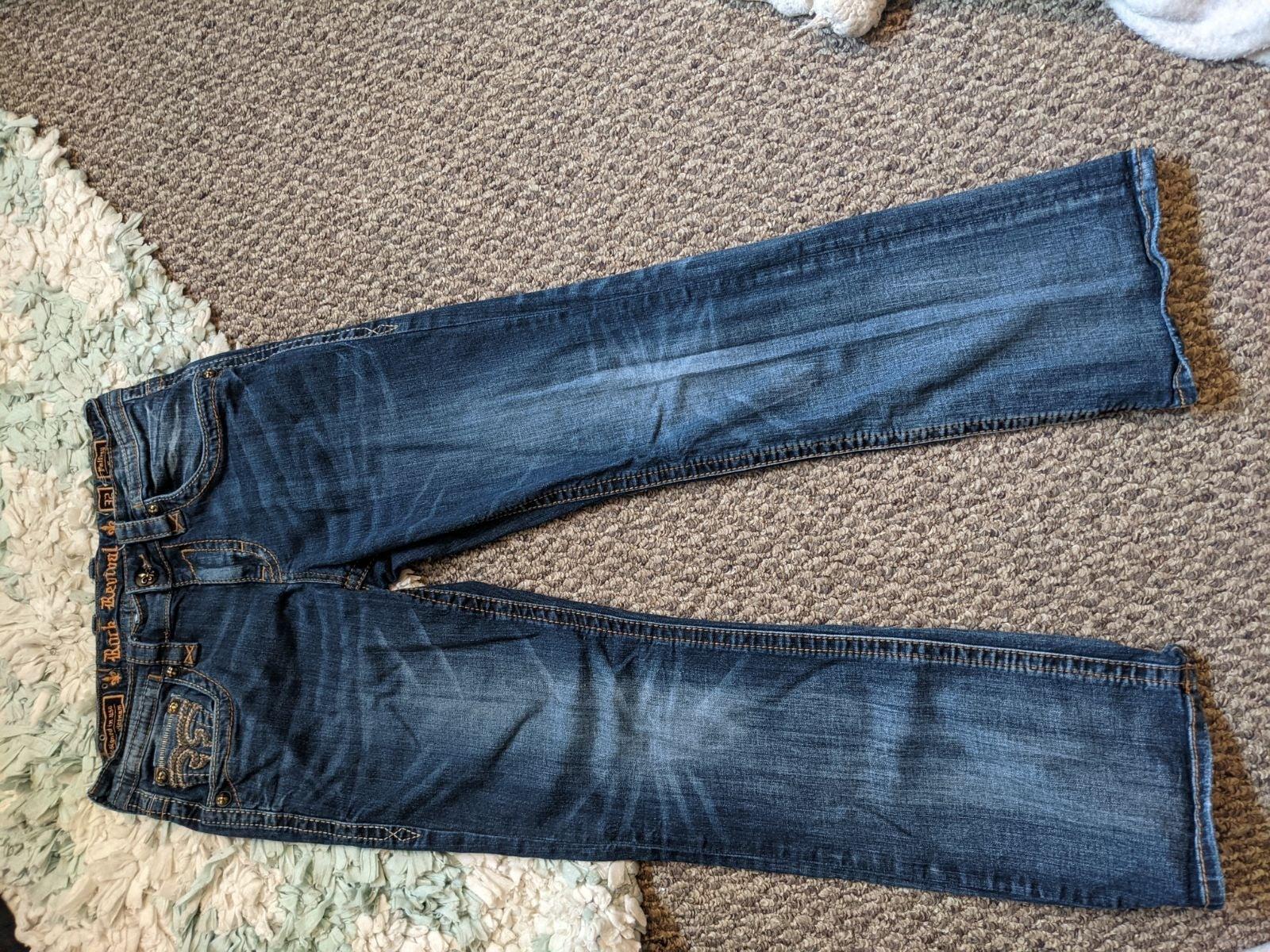 Rock Revival jeans men blue dark pants