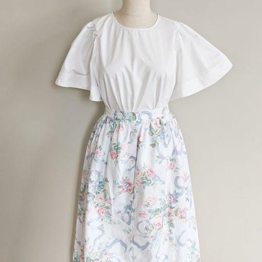 Vintage Floral Button Down Skirt