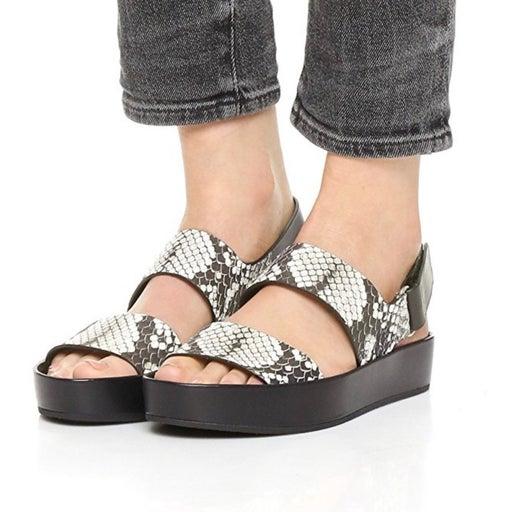 """VINCE """"Flatform"""" Python Snake Sandals"""