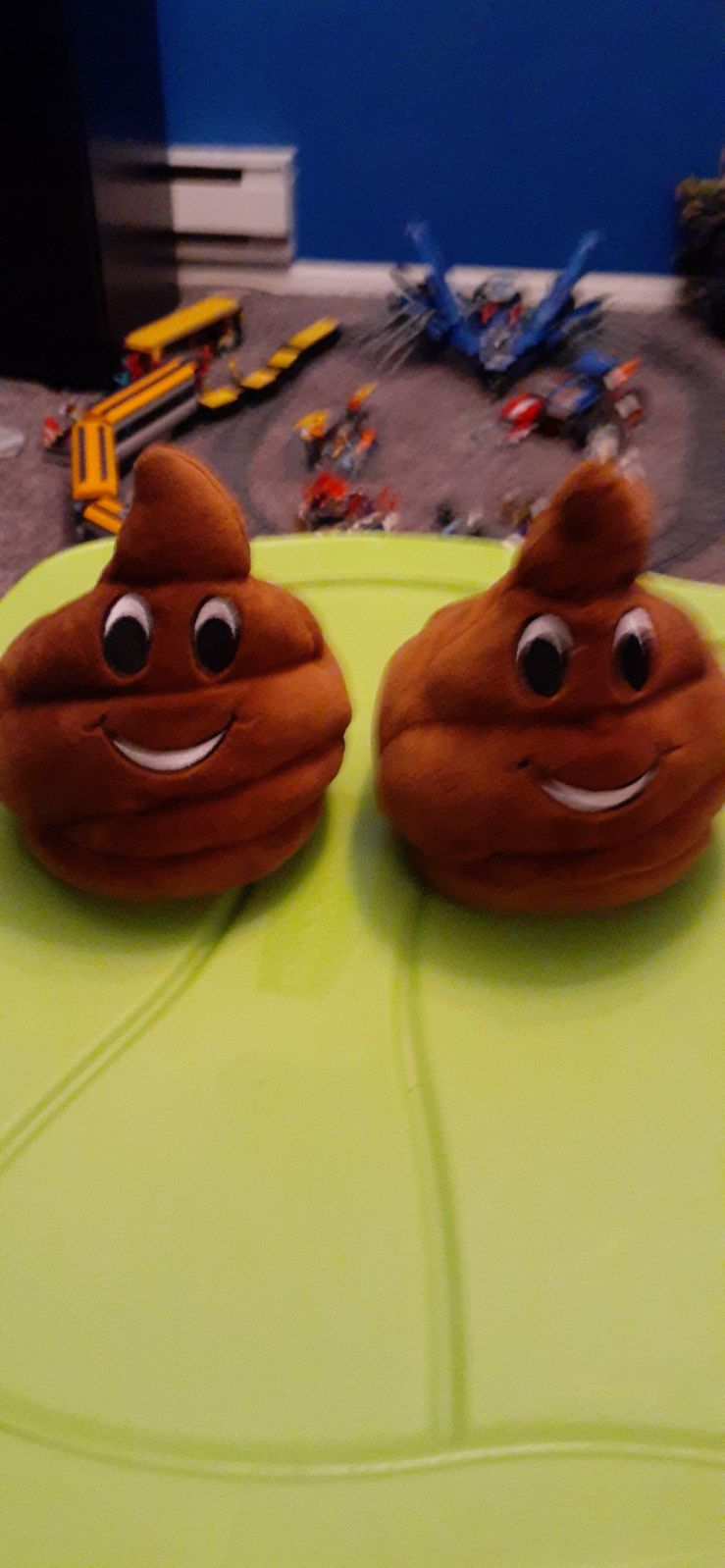 Kids size small poop slippers