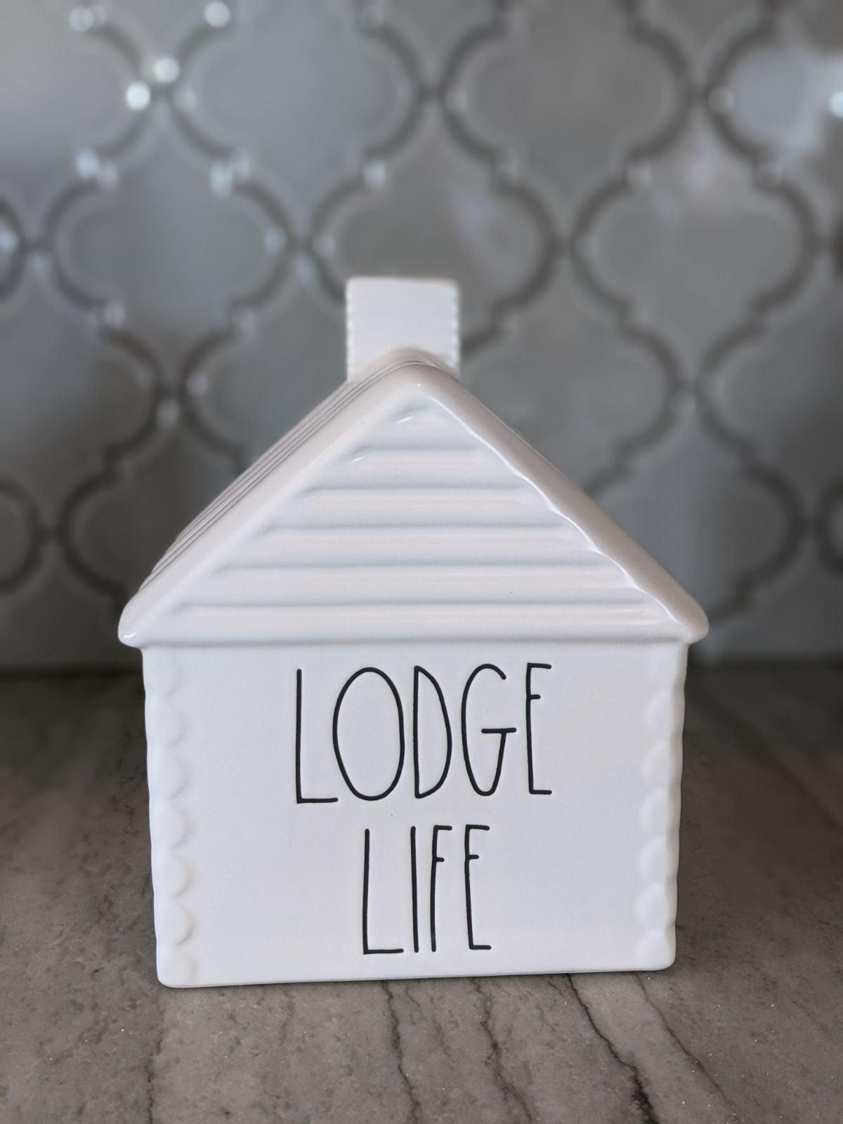 Rae Dunn lodge life cabin
