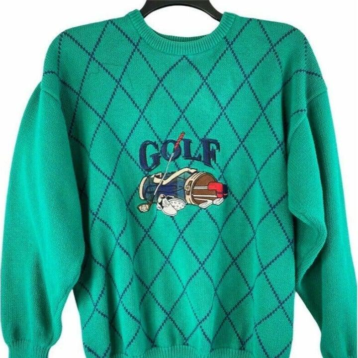 John Ashford Golf Mens Green Sweater