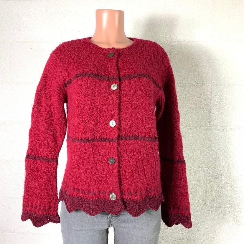J.jill Sweater wool red medium vintage