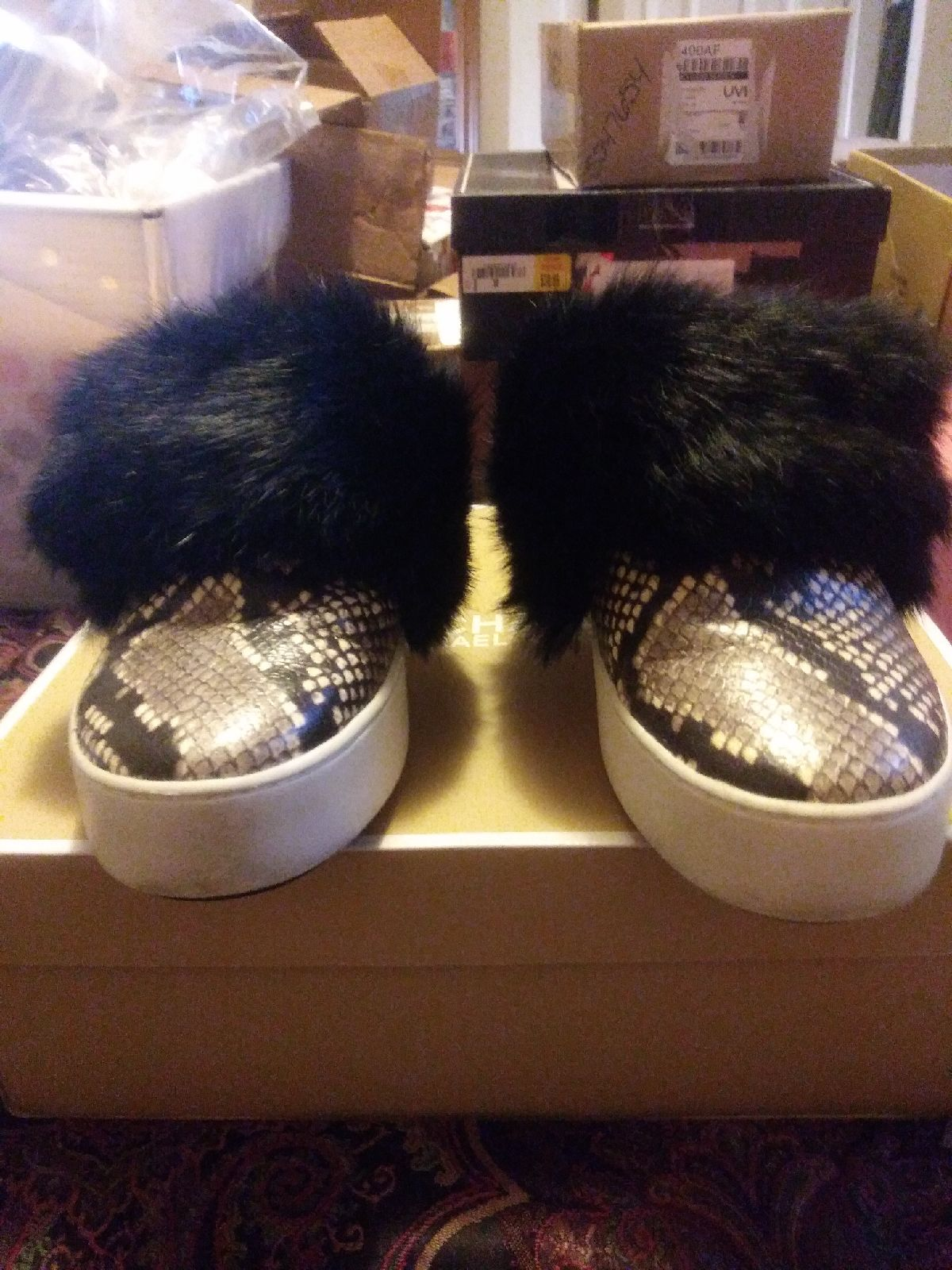 Michael Kors Snakeskin Fur Shoes 8
