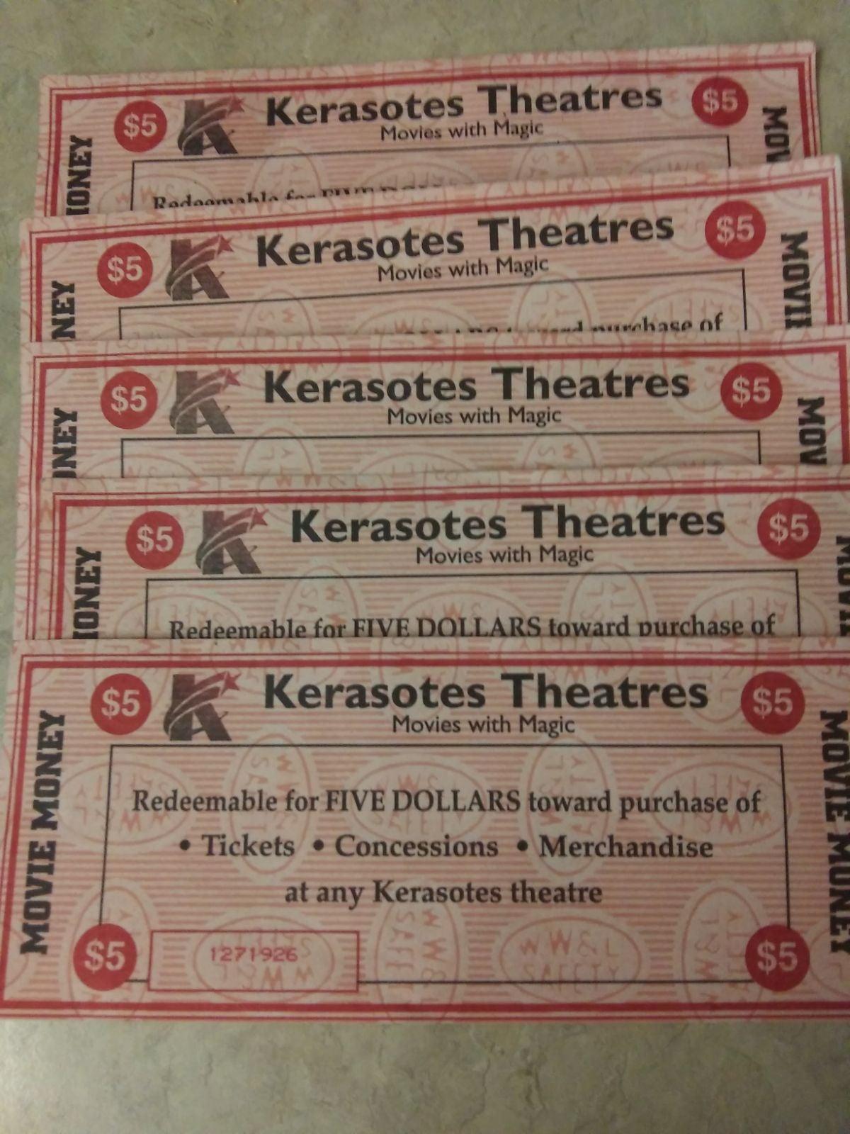 $25 Keresotes Movie Money