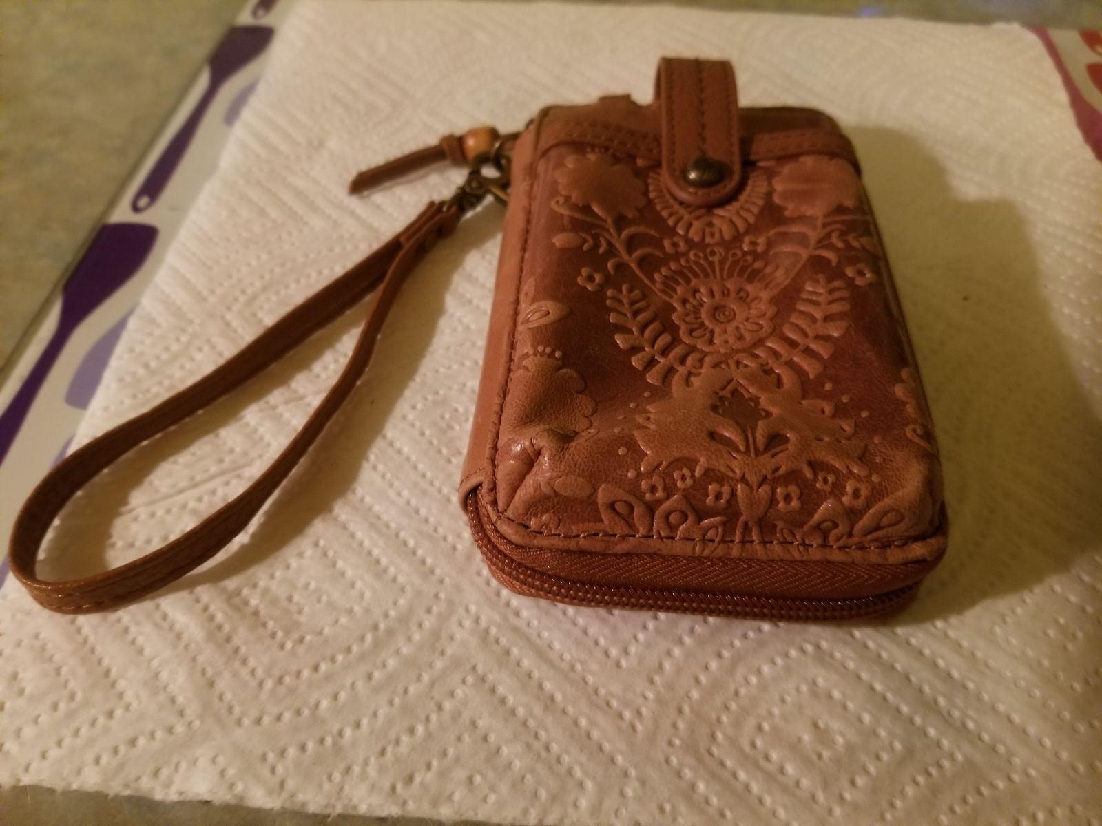 The Sak, leather smartphone wristlet