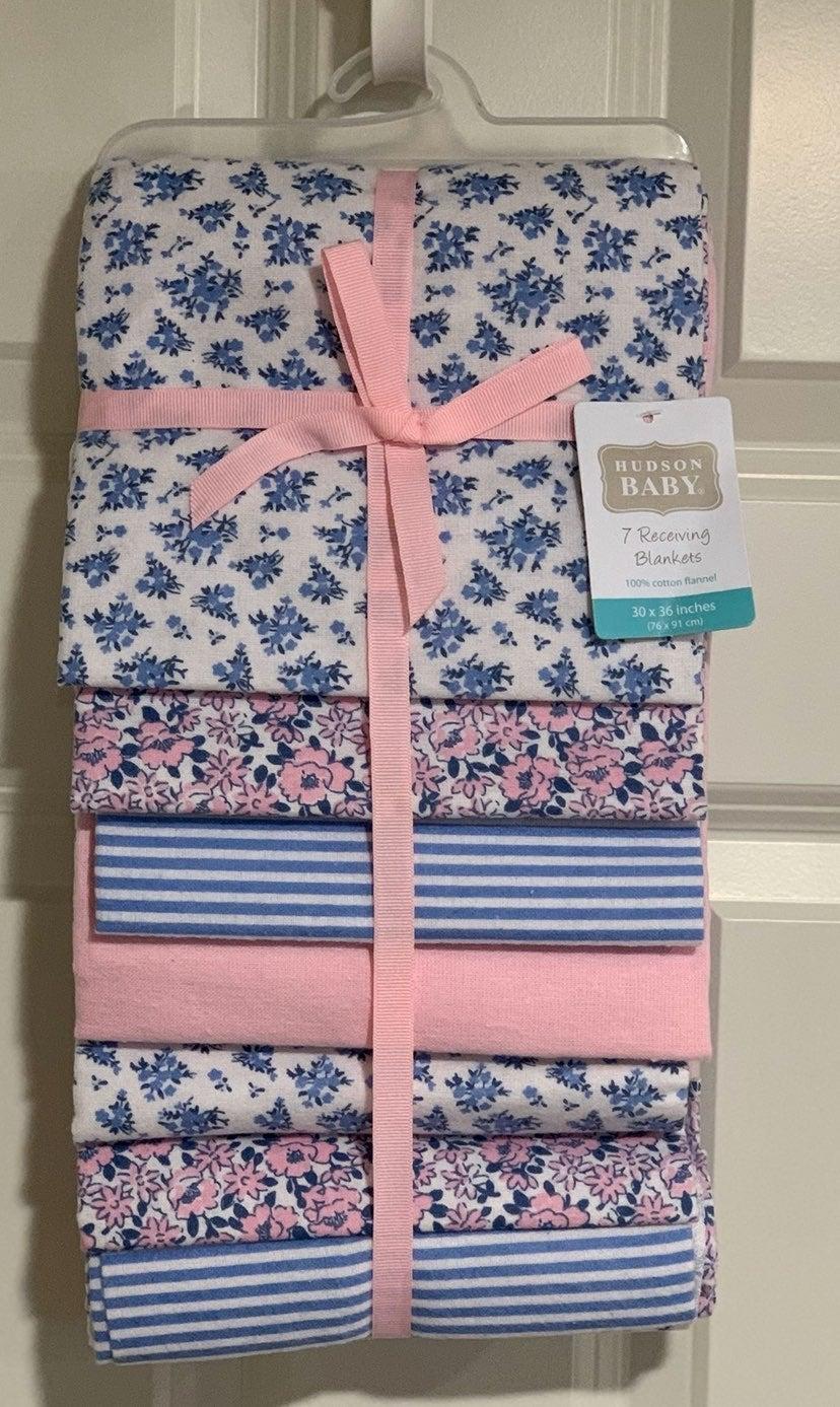 Hudson Baby Cotton Flannel Receiving Bla