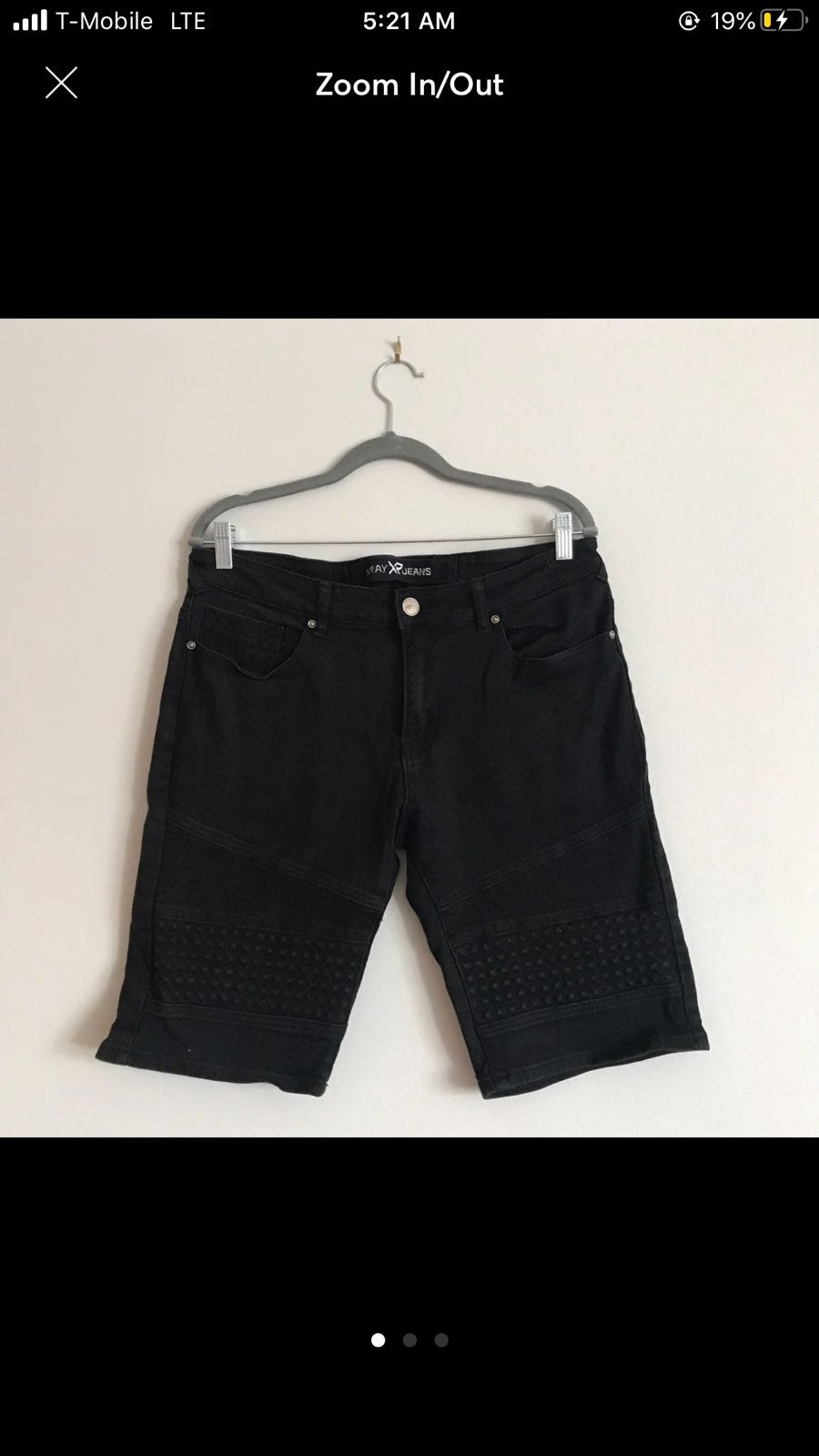 X-Ray black stretch jean shorts size 34