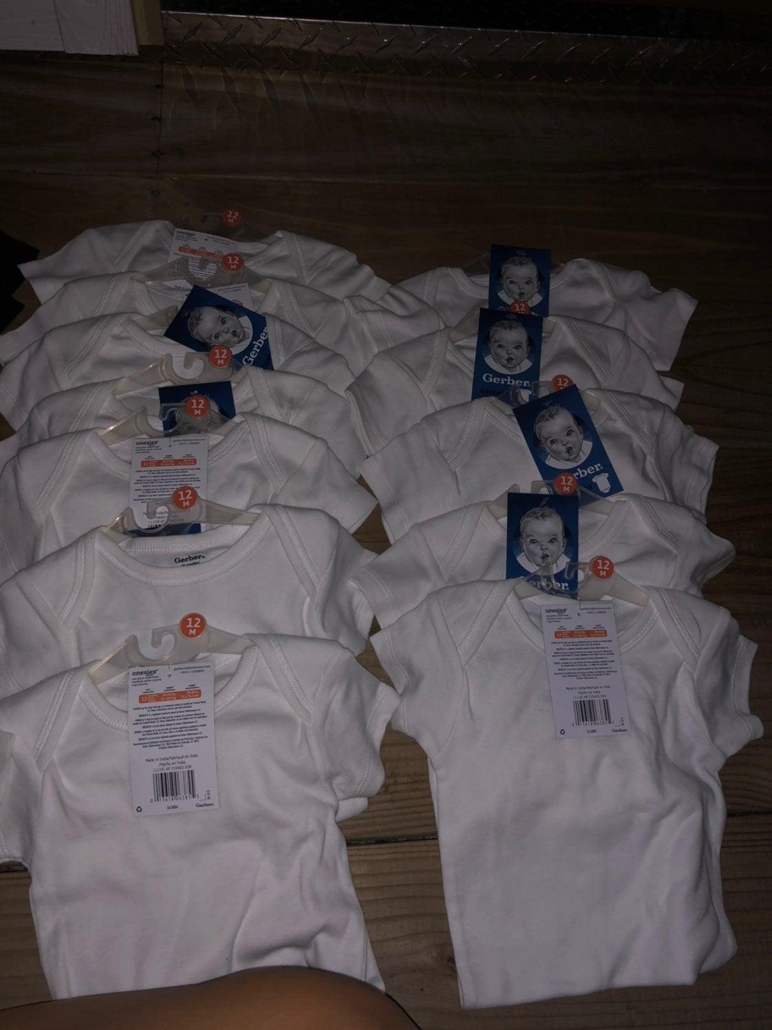 Reserved Bundle of gerber onesies