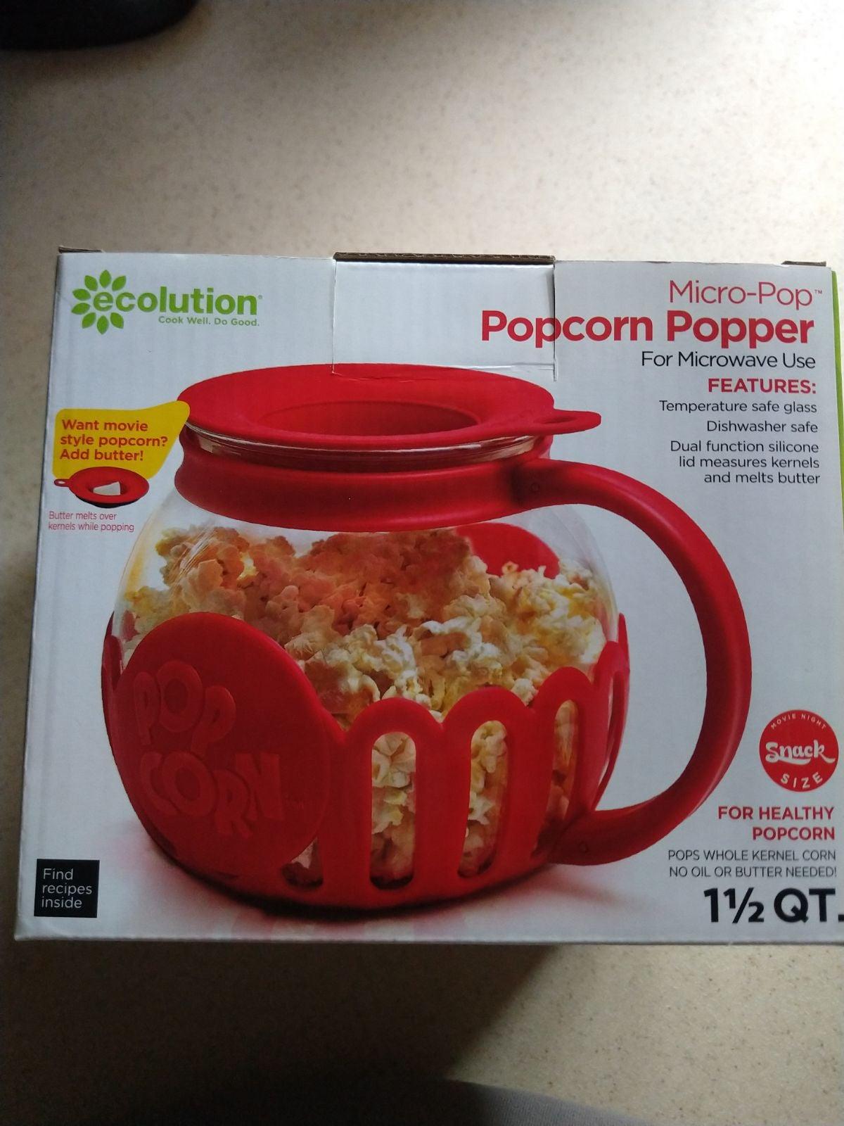 Ecolution Micro-pop Glass Popcorn Maker
