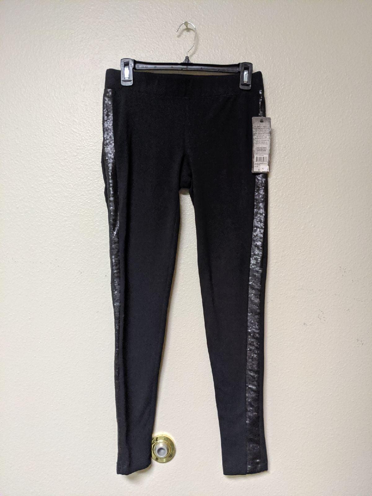 NWT RUFF HEWN Black Sequined Leggings