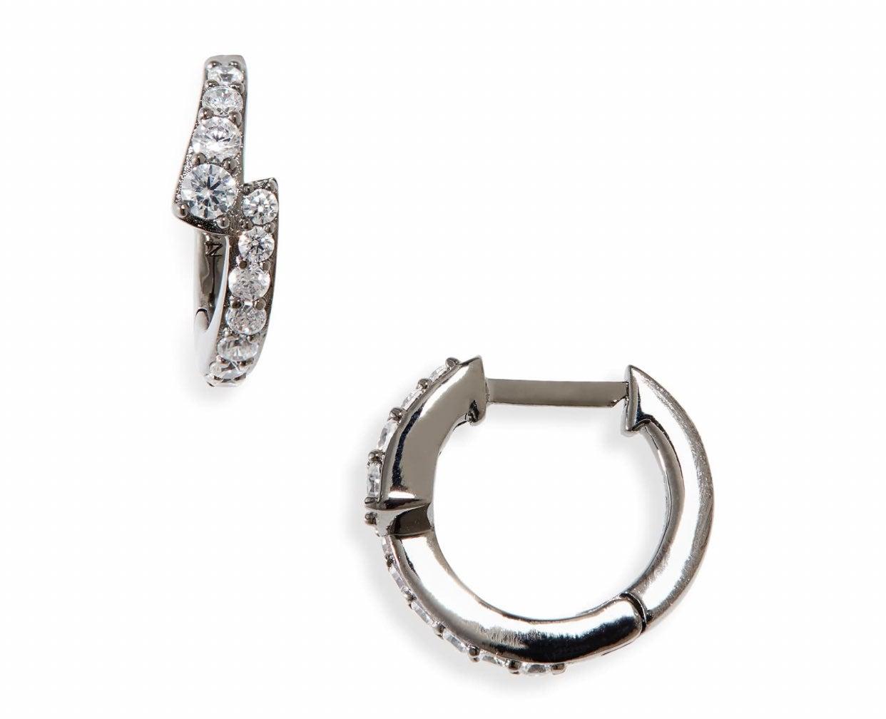 NADRI CZ Small Huggie Earrings