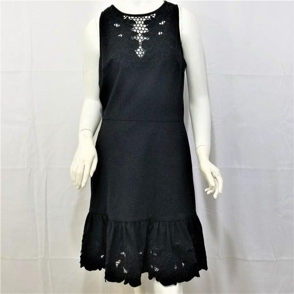 Cynthia Steffe Black CutOut Dress Ruffle