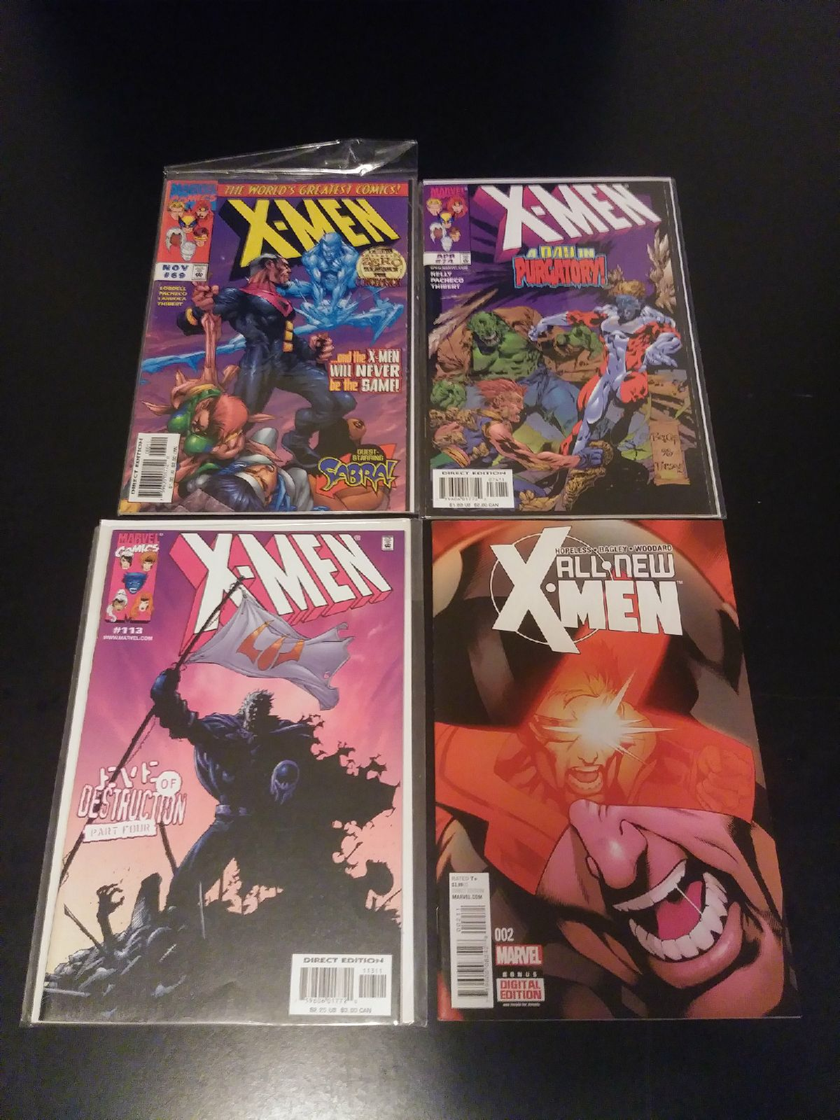 Marvel Comics X-Men Comic Book Bundle