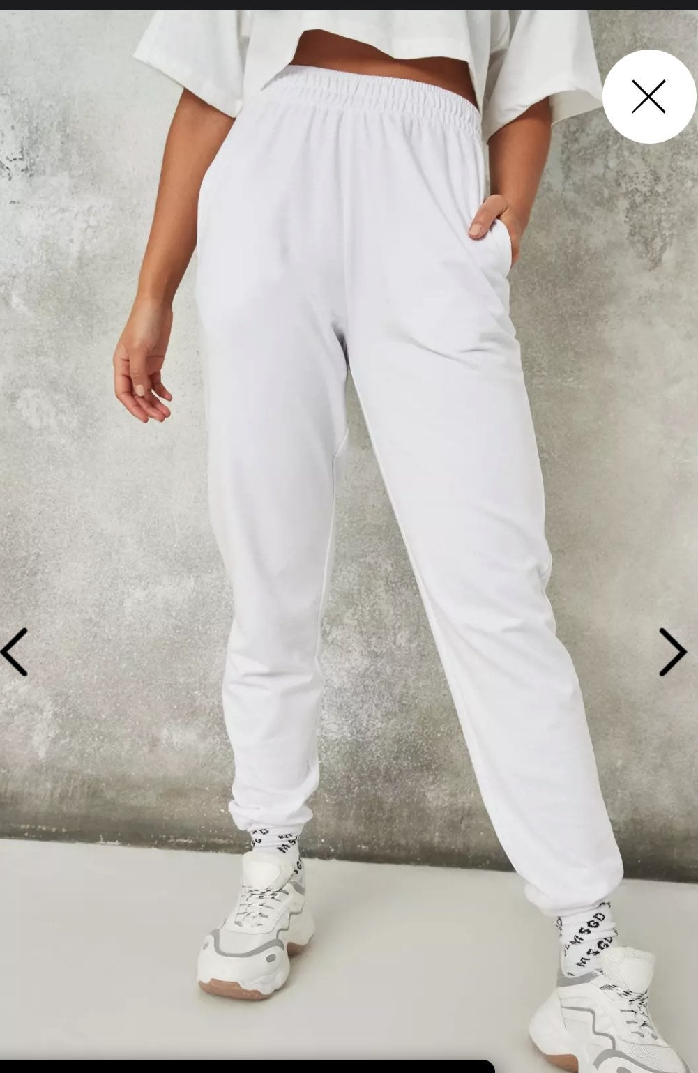 New White Joggers tall