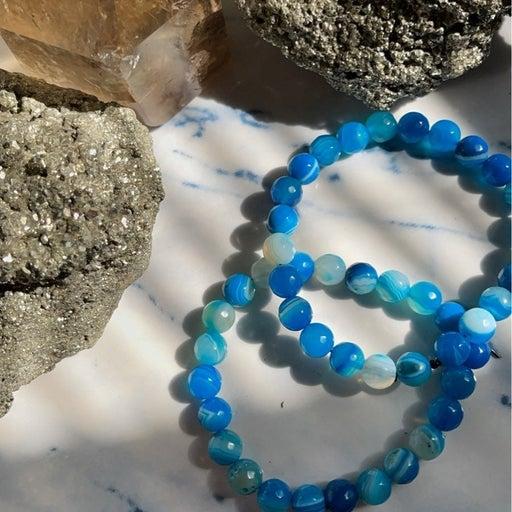 Sea Blue Agate Bracelet