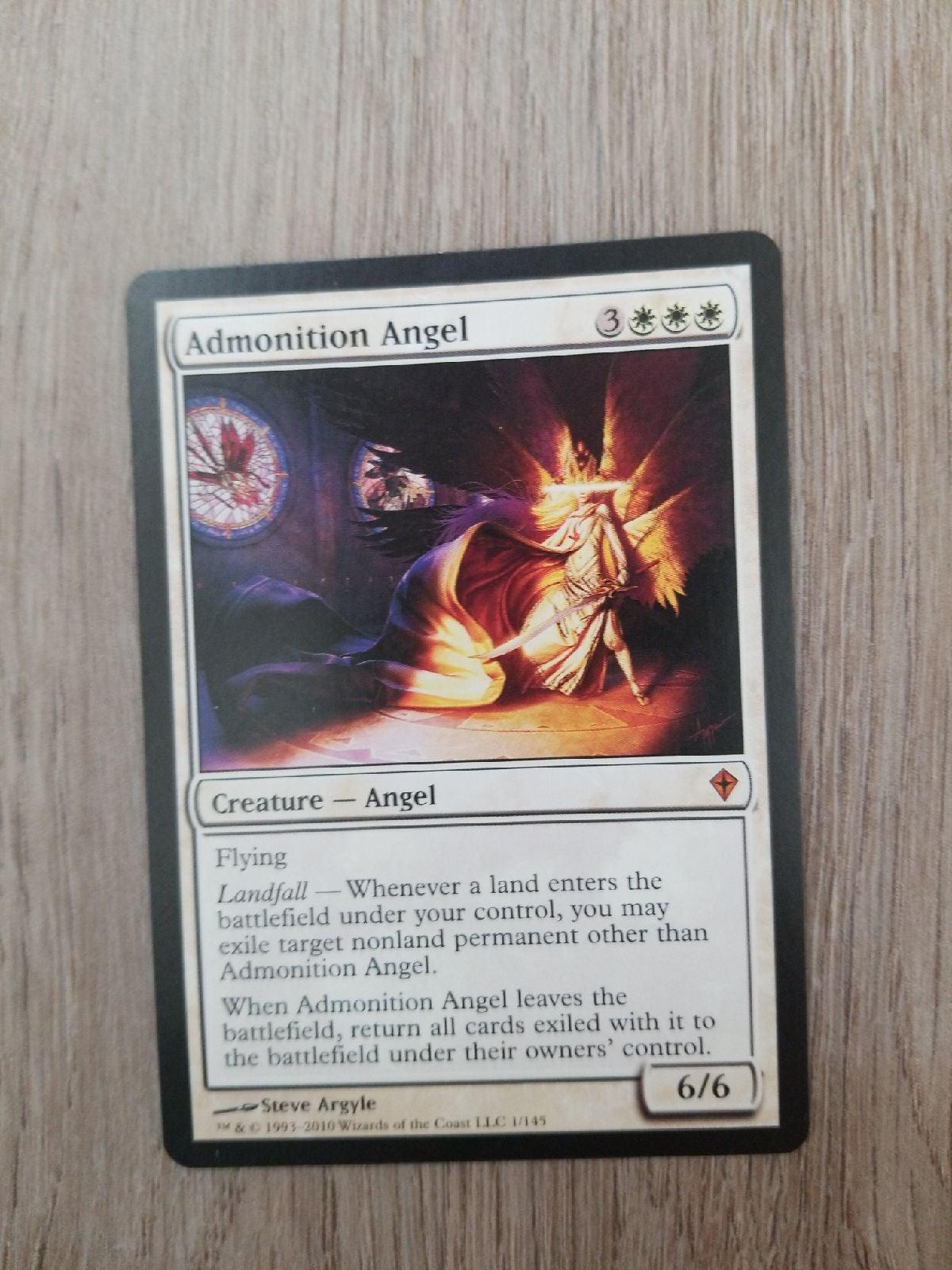 MTG Cards Admonition Angel