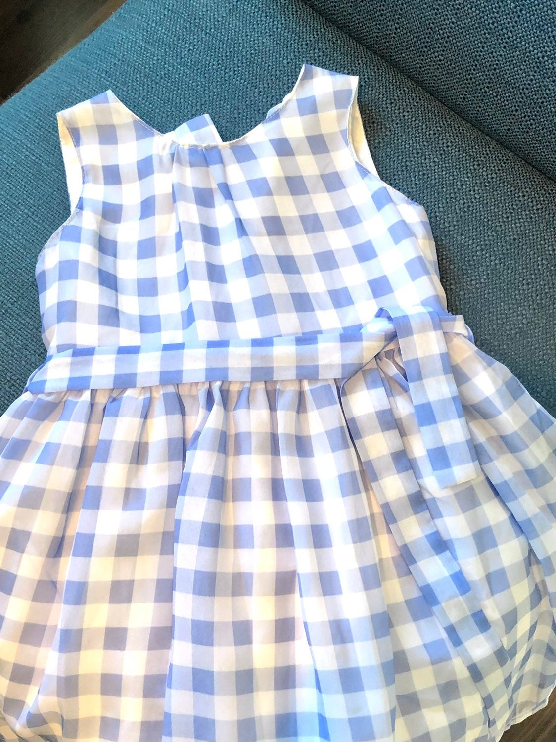 Carters blue and white baby dress 18 mth