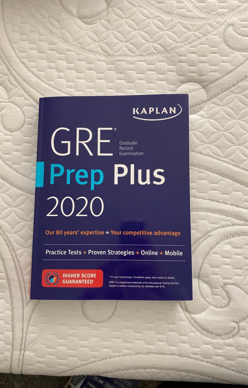 GRE Prep plus 2020 book