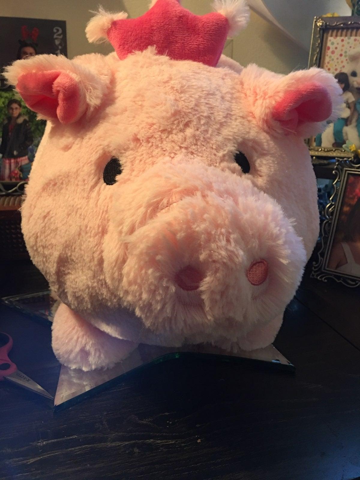 Giant furry piggy bank
