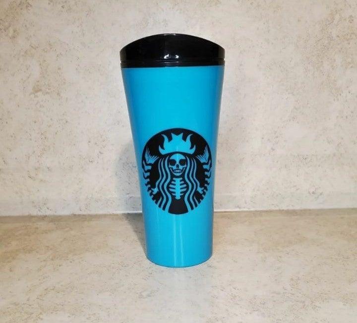 Starbucks Skeleton travel mug handmade