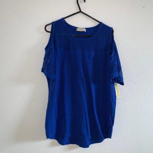 Michael kors blue Top XL