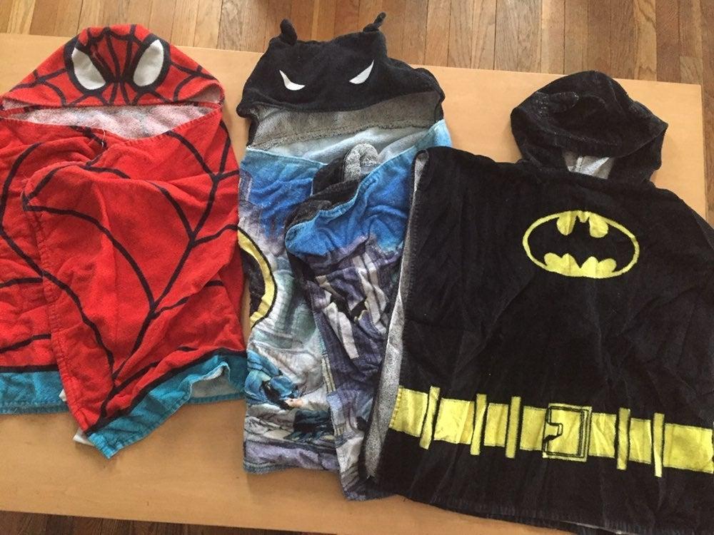 Batman Spider-Man Hooded Towels