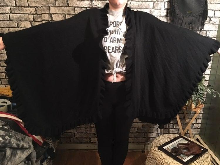 Talbots Oversized Batwing Shrug Poncho
