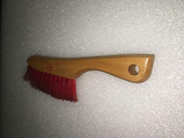 Vintage Empire Red Bristle Brush - Wood