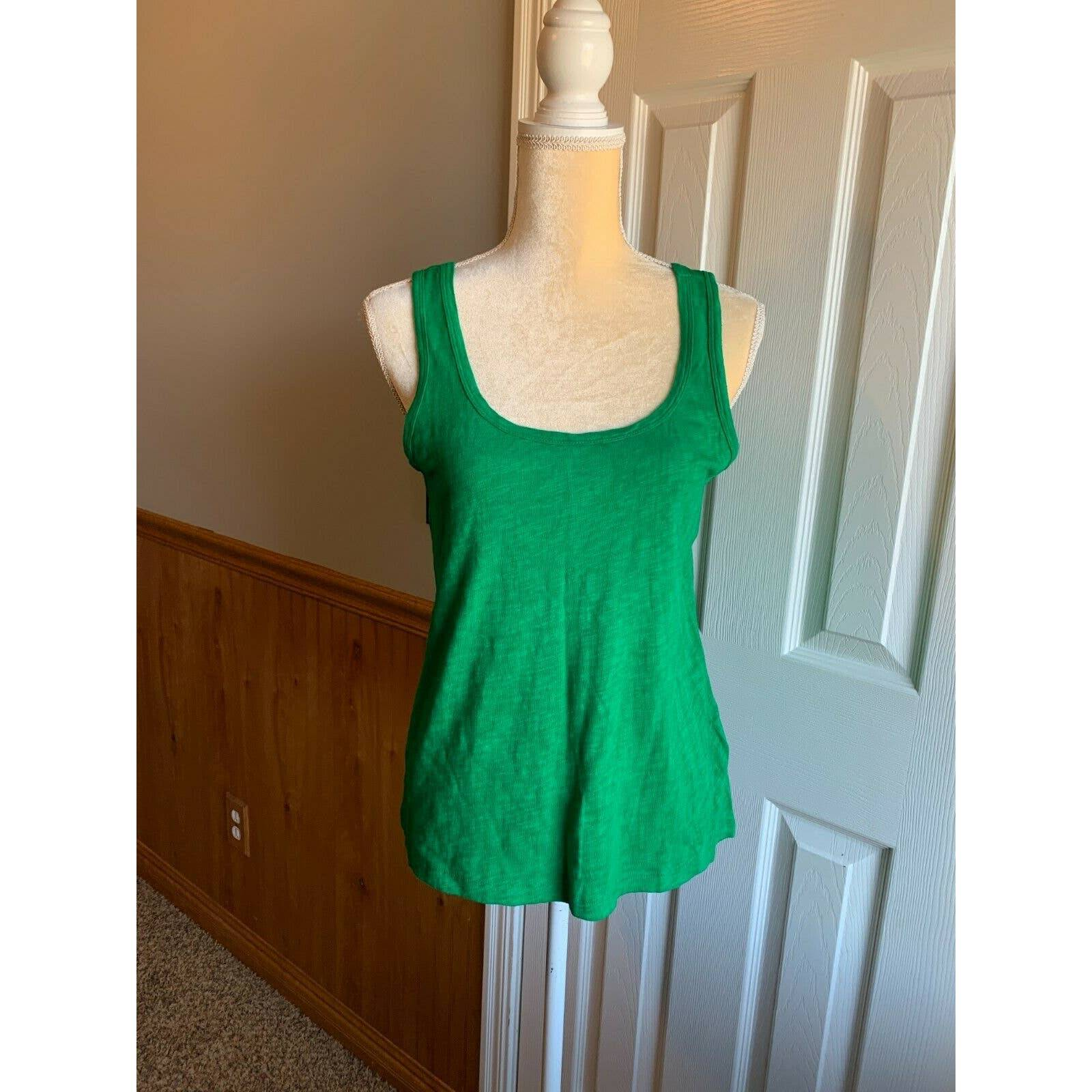 NEW NWT! MADEWELL Hi-Line Green Tank Top