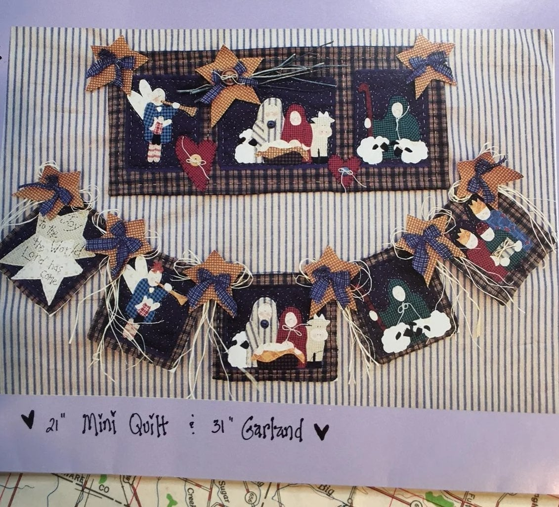 Xmas Quilt Wallhanging or Banner Pattern