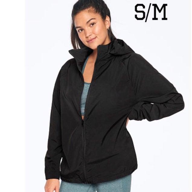 VS Pink Black Full Zip Anorak Jacket