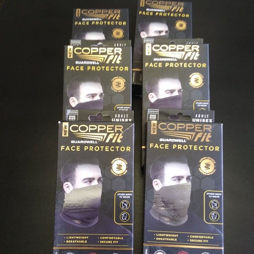 Copper Fit face protecors. 6, new in box