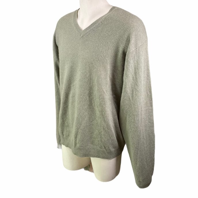John Ashford Cashmere Sweater Lite Green
