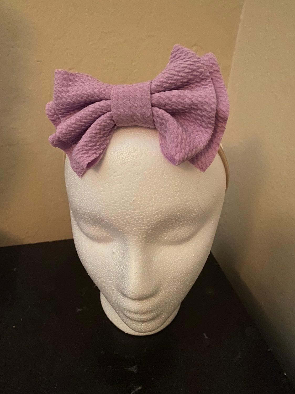 Purple One Size Fits All Headband Bow