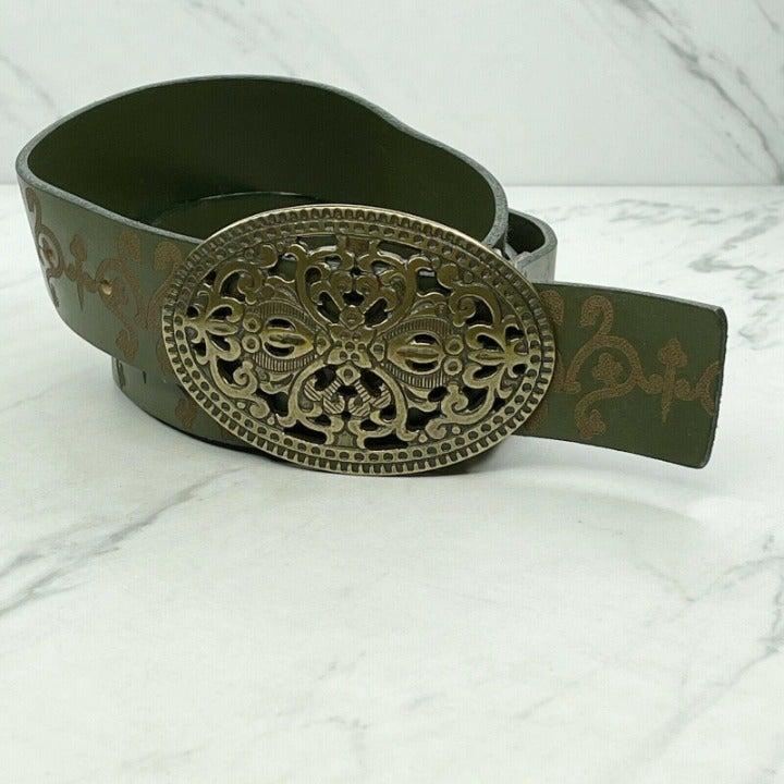 Candie's Vintage Tooled Green Belt