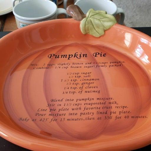 Pie Dish - Pumpkin Pie Recipe