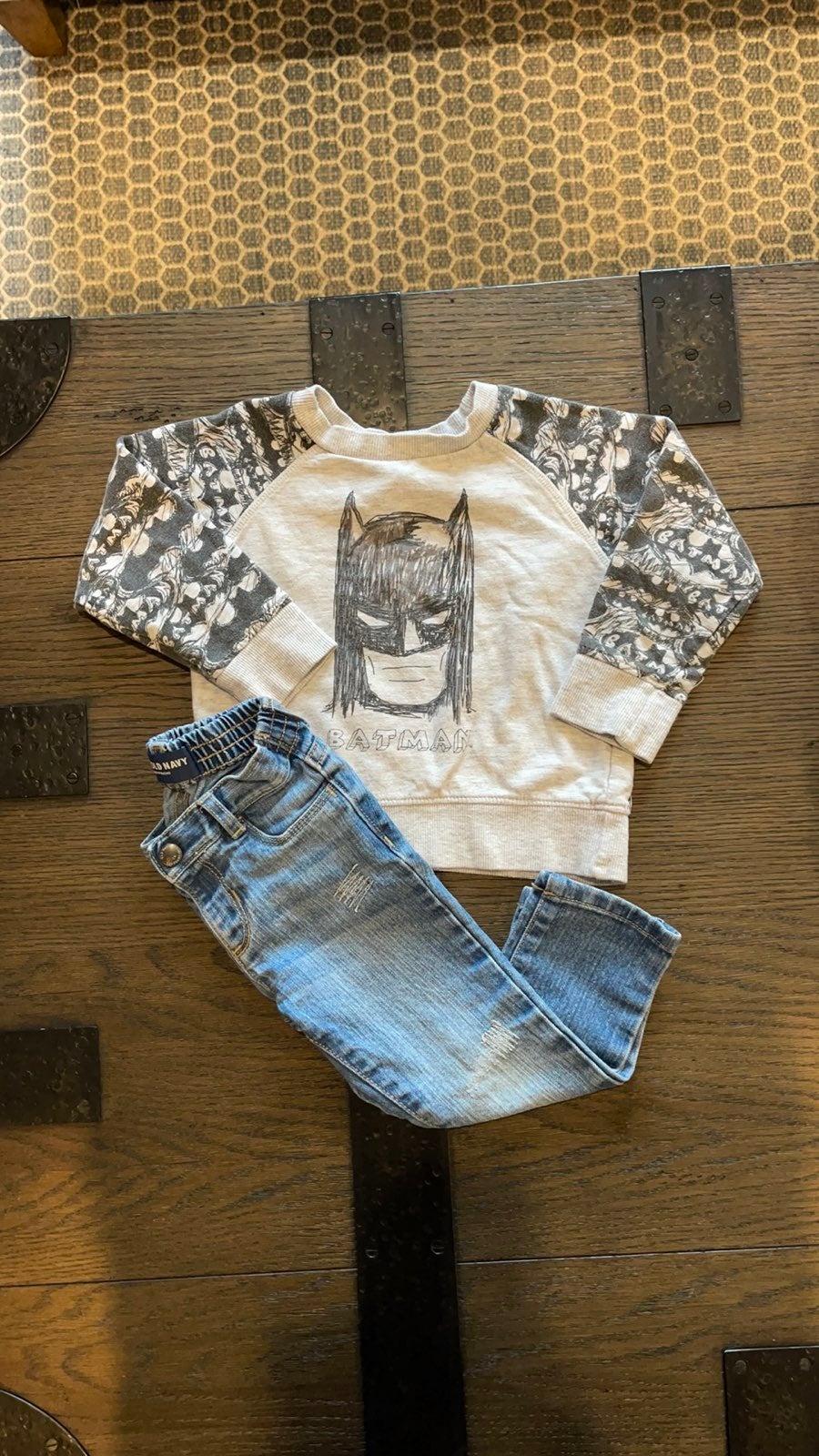 Batman Sweatshirt and Jeans