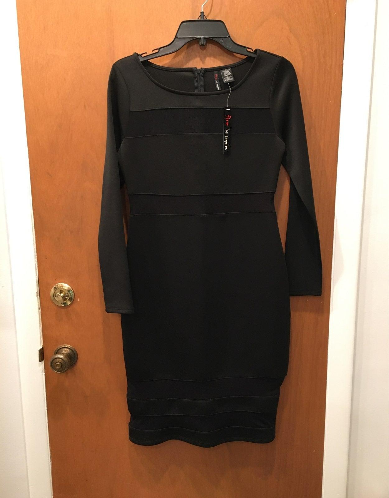 Fire Los Angeles little black dress