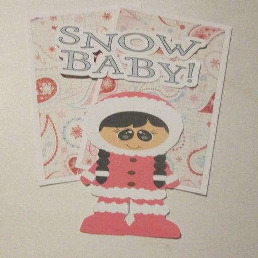 Snow Baby Girl - Scrapbook or Card Set