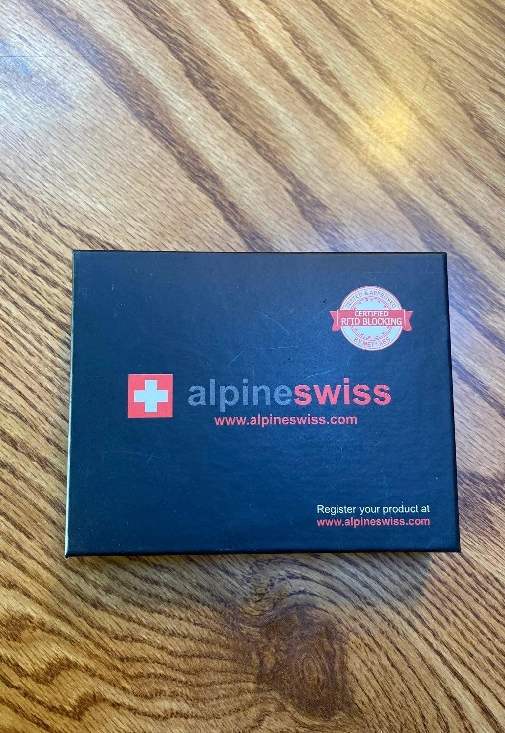 Alpine swiss learher wallet