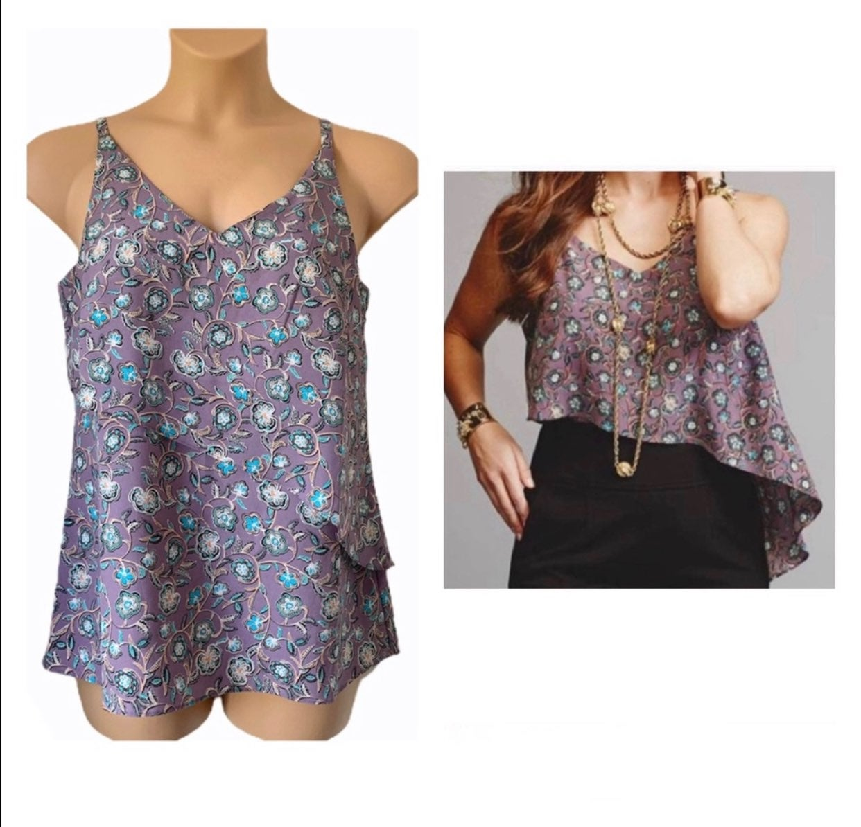 Cabi | Floral Scrollwork Cami S NWT